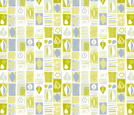 Eco Green Leaf Stripe fabric by nitelite on Spoonflower - custom fabric