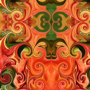 Orange & Green x Large