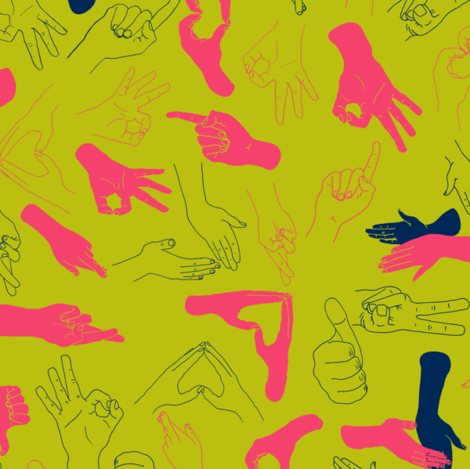 Lend a hand fabric by candyjoyce on Spoonflower - custom fabric