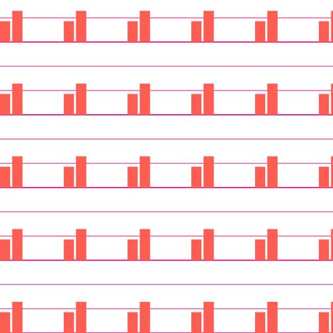 Orange Bar Charts for Erin fabric by candyjoyce on Spoonflower - custom fabric