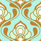 A Mod Nod to Nouveau: Aqua Bliss