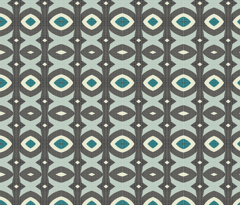 mod wallpaper 8 fabric by kociara on Spoonflower - custom fabric