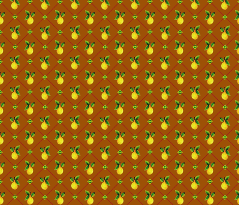 Tobacco_Pear_Trellis fabric by kelly_a on Spoonflower - custom fabric