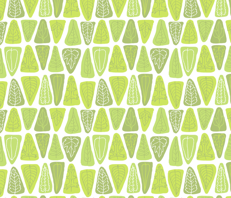 Triangle Leaves Bright fabric by vinpauld on Spoonflower - custom fabric