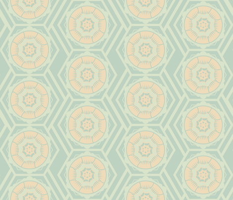 mod_flower_wallpaper fabric by pauliqui on Spoonflower - custom fabric