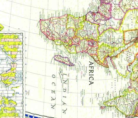World Map fabric by rashidaprattis on Spoonflower - custom fabric