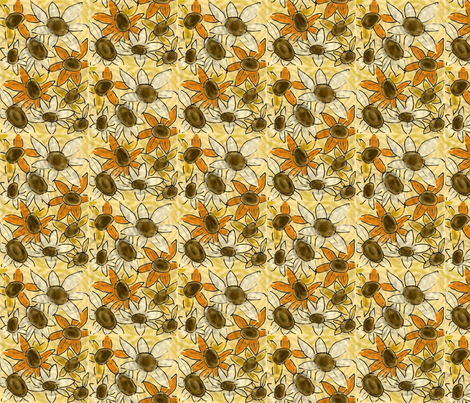 sunflower fabric by notforgottenfarm on Spoonflower - custom fabric