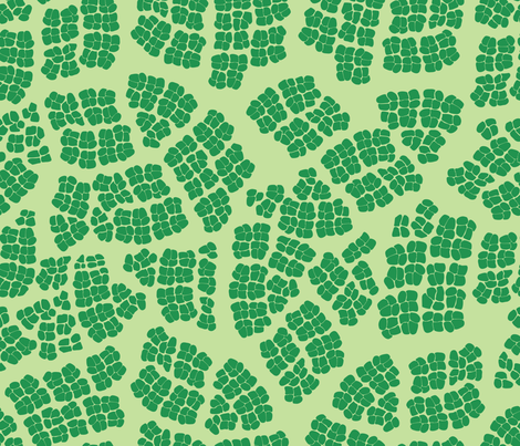 Mod_Leaf_Cells fabric by relk on Spoonflower - custom fabric