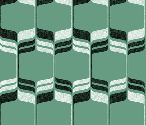 Mint Mod Ogee fabric by amelia_allen on Spoonflower - custom fabric