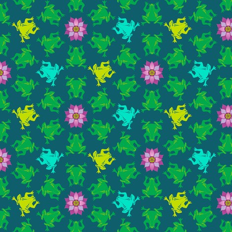 Circles of Frogs fabric by elramsay on Spoonflower - custom fabric