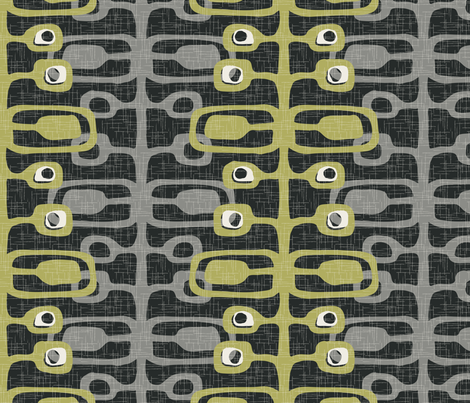 I_AM_MOD_graphite fabric by pattern_addict on Spoonflower - custom fabric
