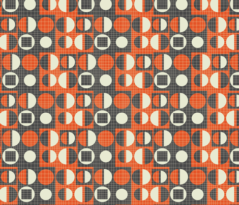 mod wallpaper 2 fabric by kociara on Spoonflower - custom fabric