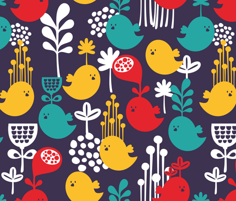 Flowers above. fabric by panova on Spoonflower - custom fabric