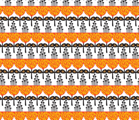 Orange flowers. fabric by panova on Spoonflower - custom fabric