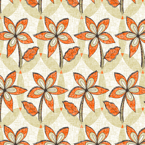 Tangerine Melody fabric by rhondadesigns on Spoonflower - custom fabric