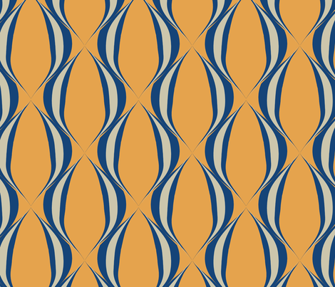 Blue mod fabric by mayacoa on Spoonflower - custom fabric