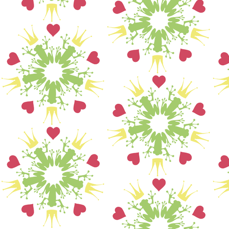 kiss_me_pattern fabric by luettwitz on Spoonflower - custom fabric