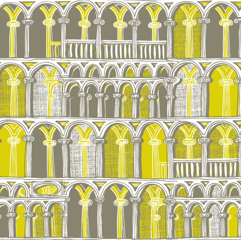 Midsummer Athens Candlelit fabric by spellstone on Spoonflower - custom fabric