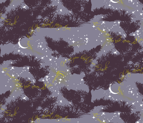 Midsummer Night Sky fabric by halfaringcircus on Spoonflower - custom fabric