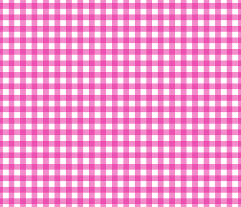 Gingham Pink fabric by maydesigns on Spoonflower - custom fabric