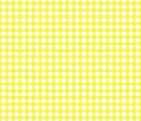 Gingham Yellow fabric by maydesigns on Spoonflower - custom fabric
