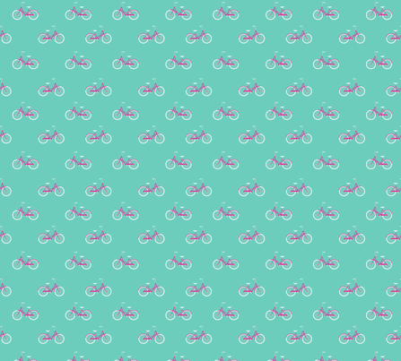 Bike Ride Aqua fabric by maydesigns on Spoonflower - custom fabric