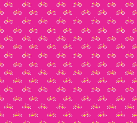 Bike Ride Pink fabric by maydesigns on Spoonflower - custom fabric