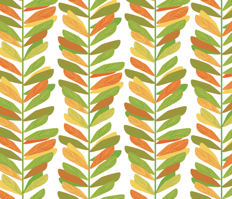 Mod Leaves fabric by jillbyers on Spoonflower - custom fabric