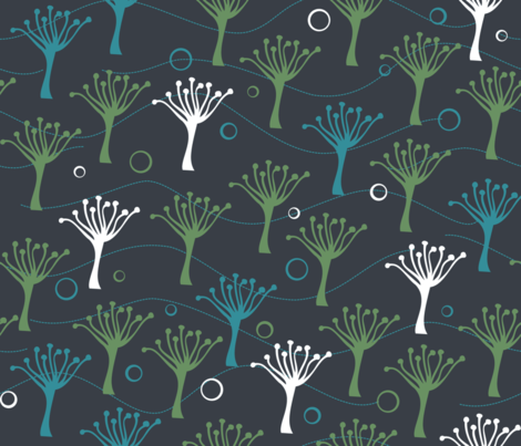 Forbidden Planet fabric by thesummercountry on Spoonflower - custom fabric
