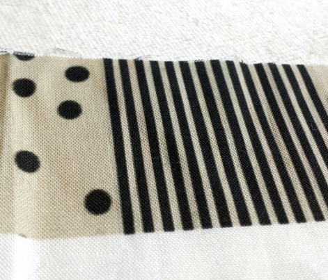 Black Dots & Stripes on Cappuccino