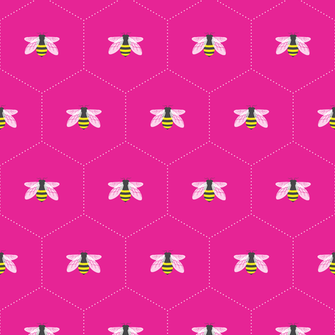 Honeycomb Pink fabric by maydesigns on Spoonflower - custom fabric