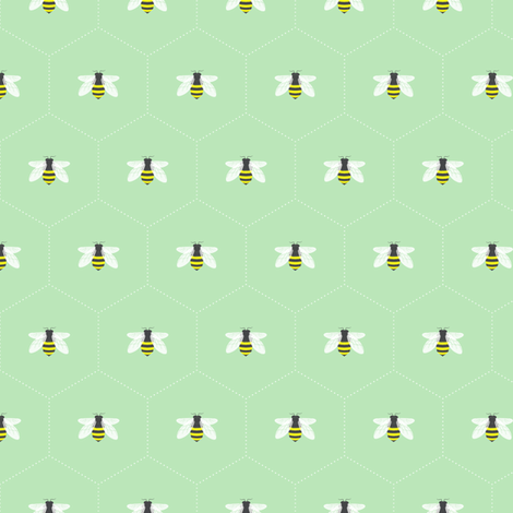 Honeycomb Mint fabric by maydesigns on Spoonflower - custom fabric