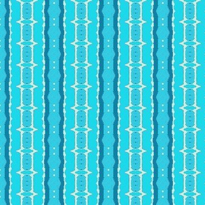 Seafoam and teal flowery stripes-2