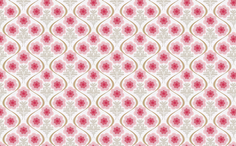 pink bouquet fabric by myracle on Spoonflower - custom fabric