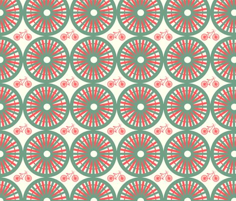 sunny day - mod green & blue fabric by fable_design on Spoonflower - custom fabric