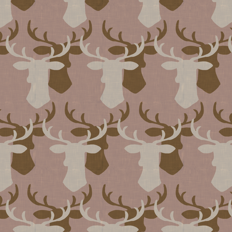 Oh Deer_ pink fabric by fable_design on Spoonflower - custom fabric