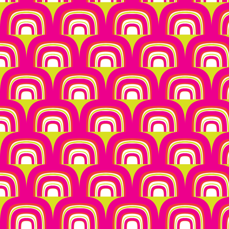 Retro Rainbow fabric by fable_design on Spoonflower - custom fabric
