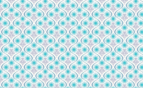 blue bouquet fabric by myracle on Spoonflower - custom fabric