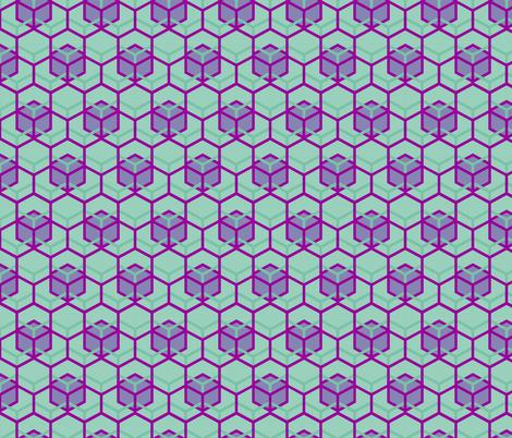Beehive Mint Periwinkle Fandango fabric by veritymaddox on Spoonflower - custom fabric