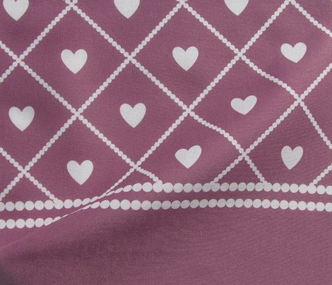 Never Far Away - Border Fabric (color: antique rose)