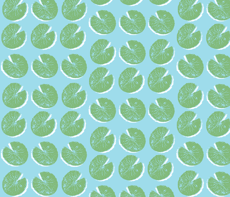 lily pad (small)  fabric by pattyryboltdesigns on Spoonflower - custom fabric