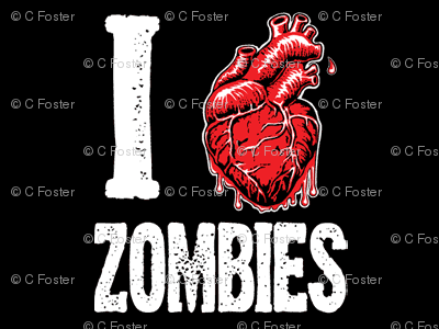 I love zombies -black