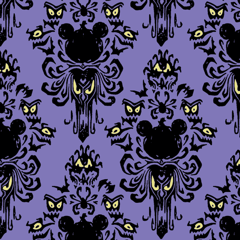 Mouse Mansion Purple fabric by knittychick on Spoonflower - custom fabric