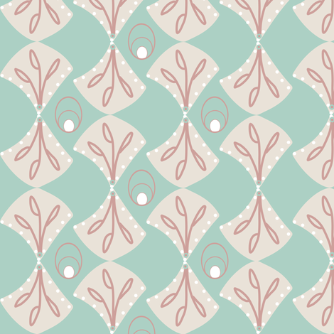 Mod Shells fabric by arttreedesigns on Spoonflower - custom fabric
