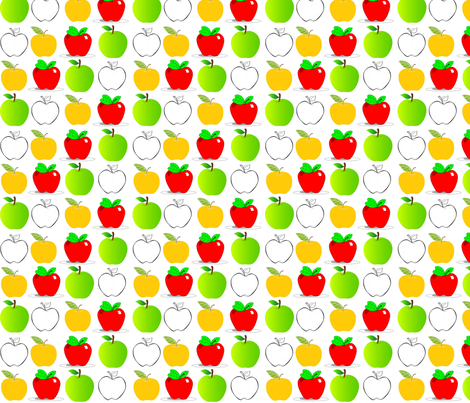 apples fabric by vos_designs on Spoonflower - custom fabric