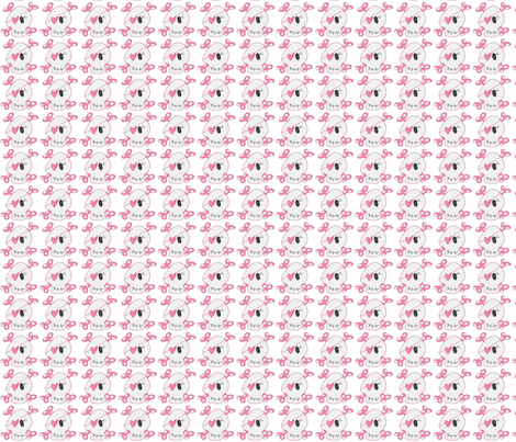 Girly Skulls fabric by vos_designs on Spoonflower - custom fabric