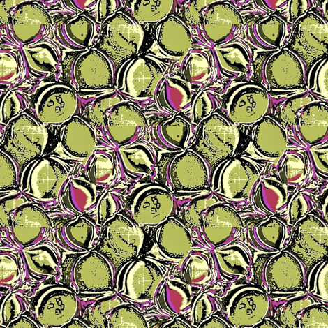 moss green and purple leaves fabric by dk_designs on Spoonflower - custom fabric