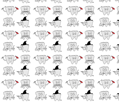 Tooth Fun fabric by chriskane100 on Spoonflower - custom fabric