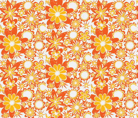 Orange happy fabric by mketi on Spoonflower - custom fabric