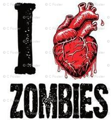 I love zombies -white